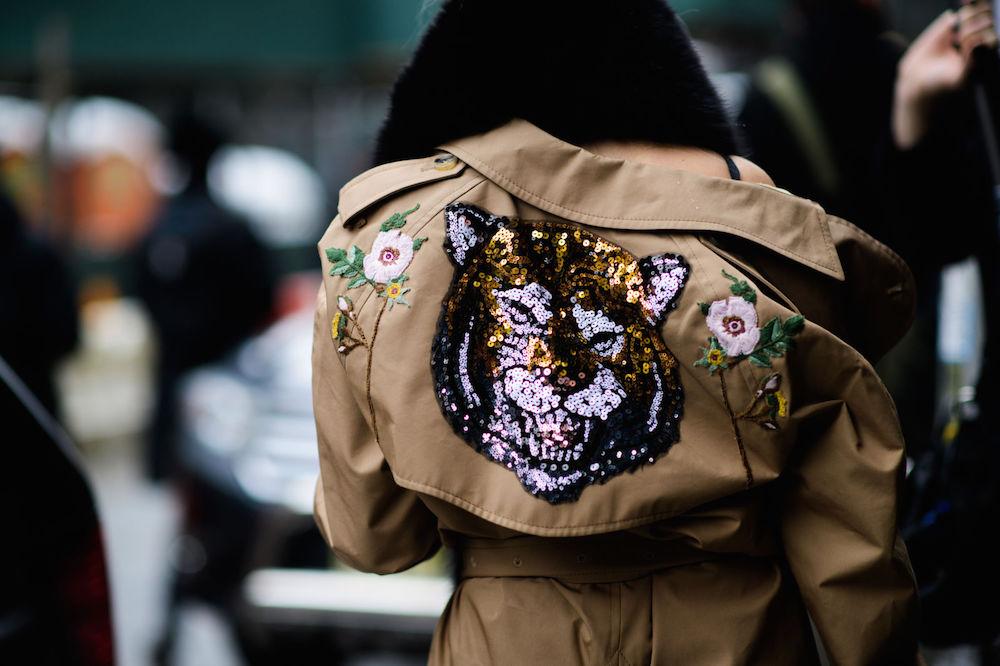 the best wearable street style - nyfw 2017 // embellished jacket | the stripe