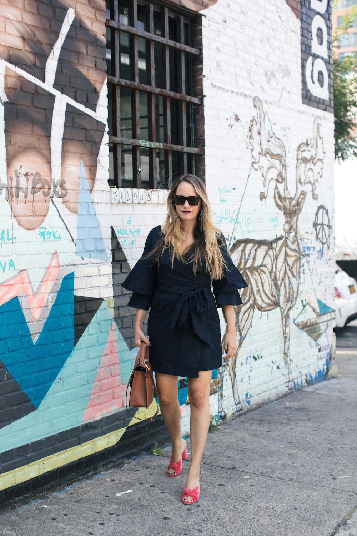 wayf portrait wrap dress | grace atwood, the stripe