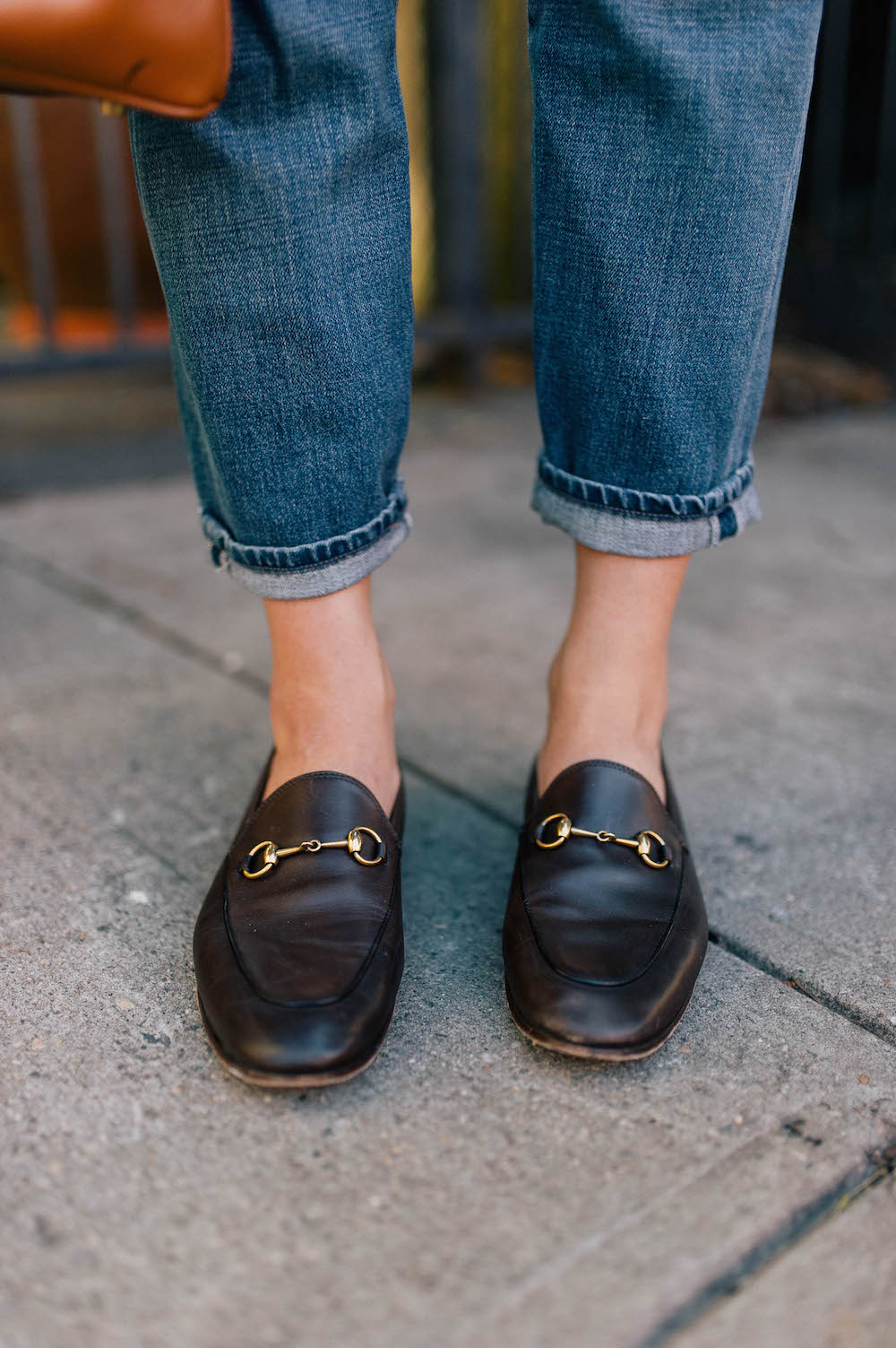classic fall street style | gucci jordaan loafers | grace atwood, the stripe