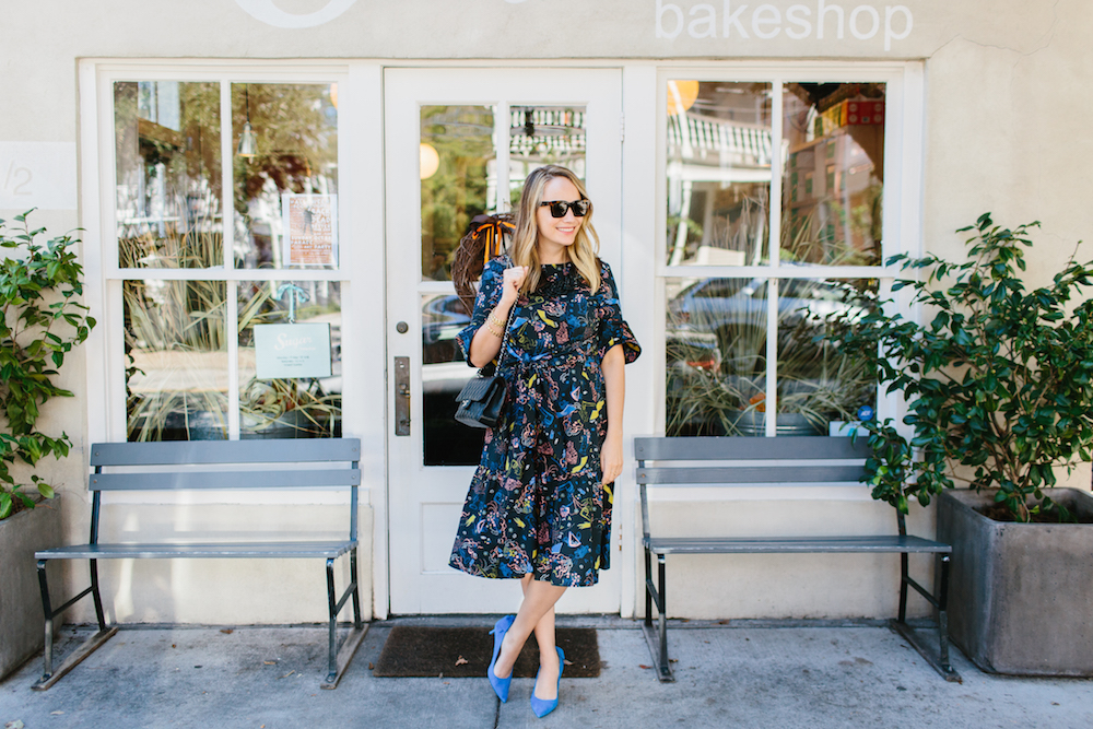 sugar bakeshop in charleston! vivetta montpellier dress from hampden clothing | grace atwood, the stripe