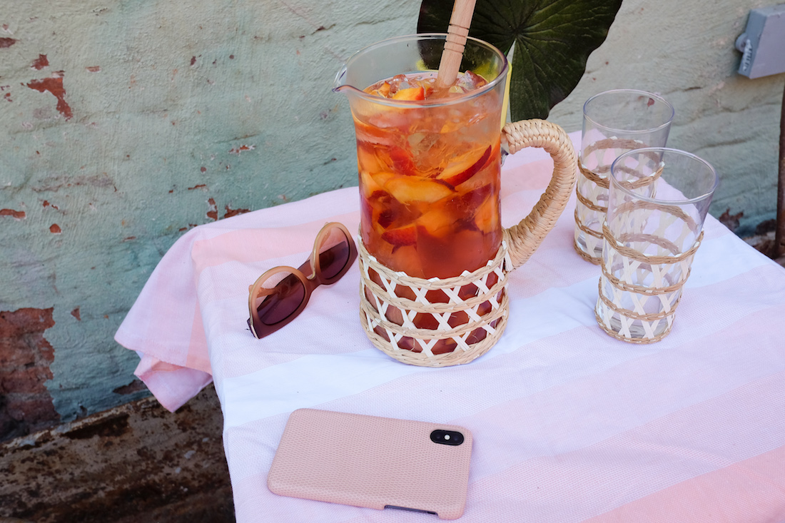 peaches + rosé = the most delicious summer punch!