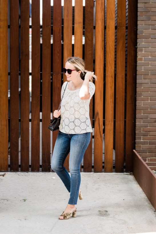 Puff Sleeve Lace Top HINGE