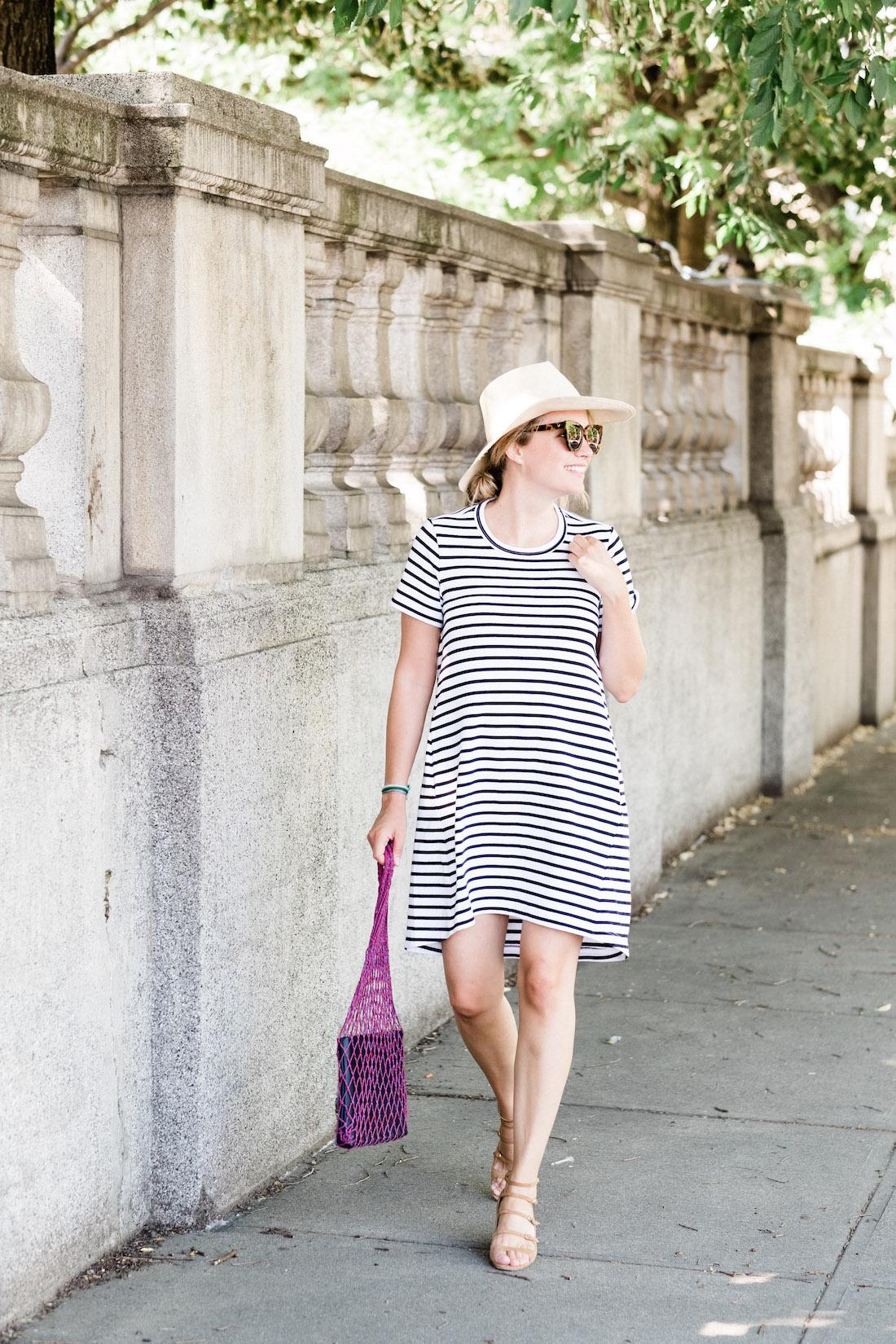 sacai stripe t-shirt dress // grace atwood