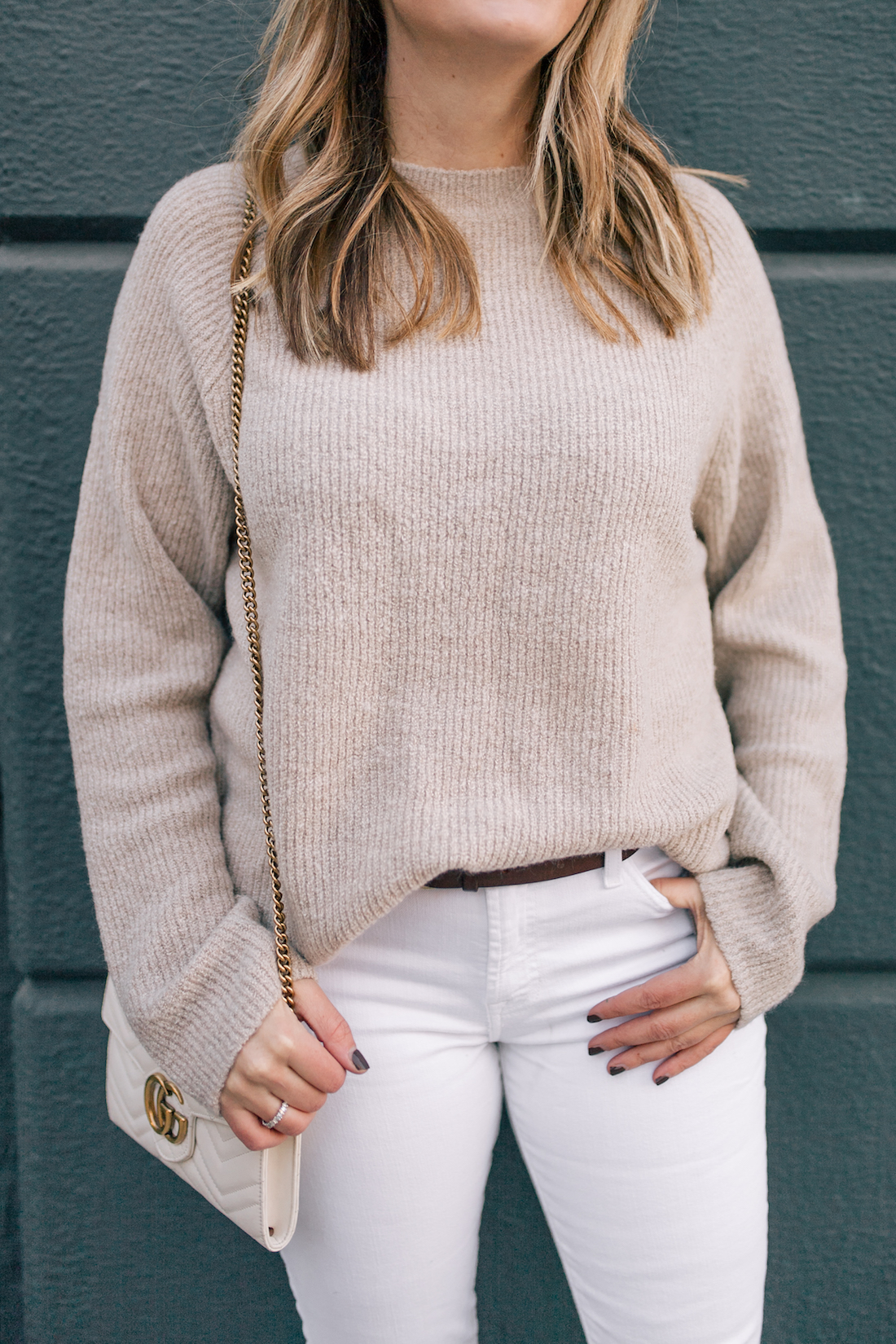 ASOS Sweater // 7 for all Mankind Jeans // J.Crew Belt
