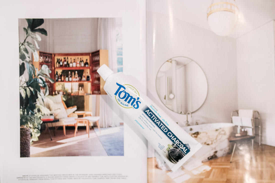 Tom's of Maine had launched a new activated charcoal toothpaste