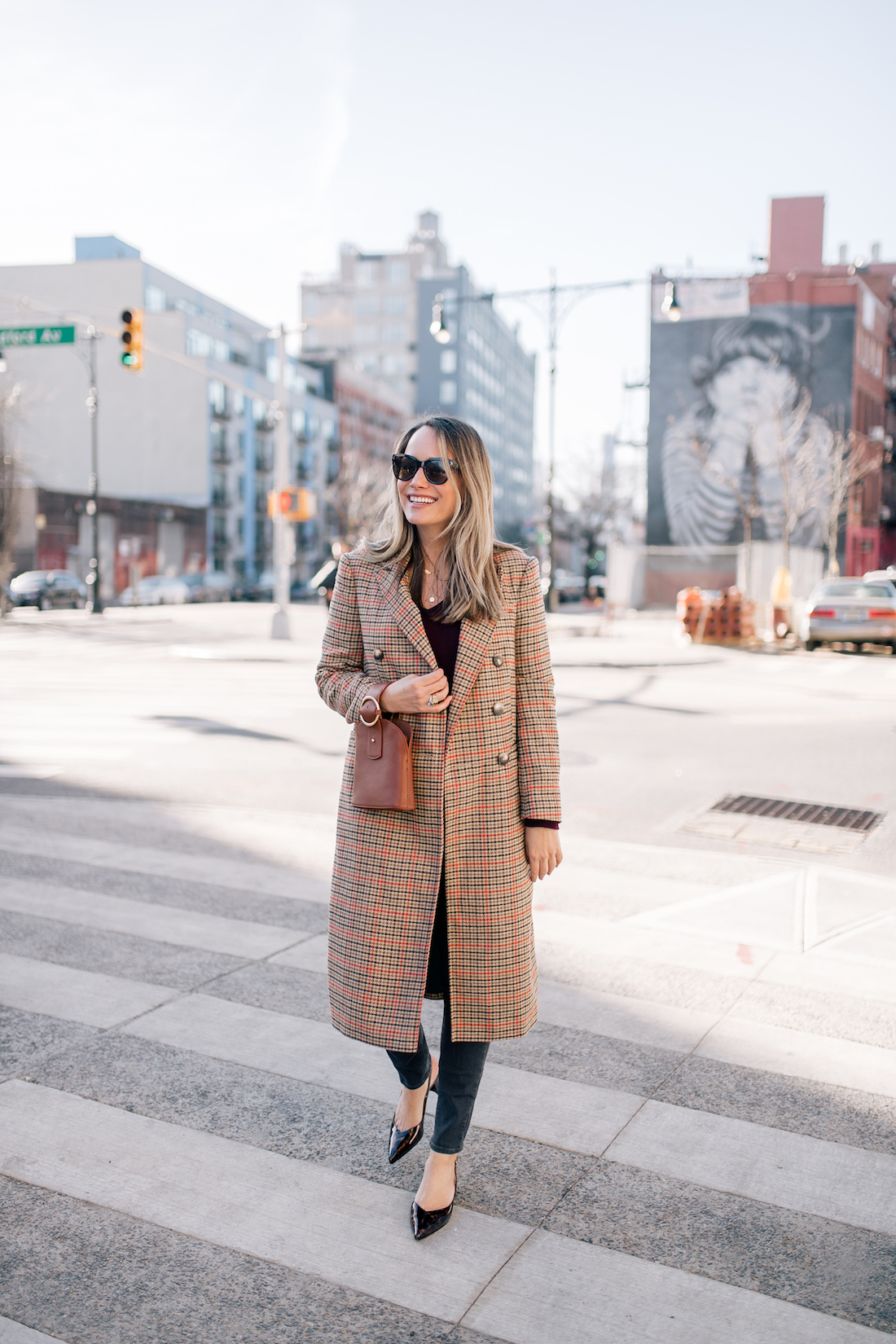 Grace Atwood is sharing a winter outfit in NYC