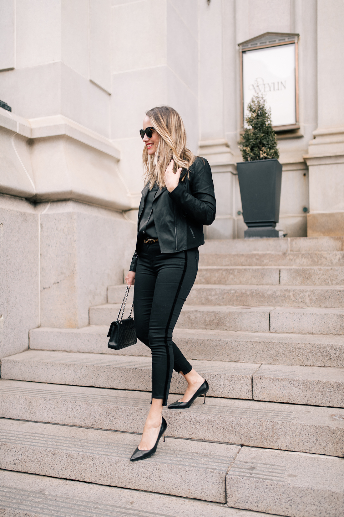 A Black Outfit & The Perfect Pump - Sarah Flint