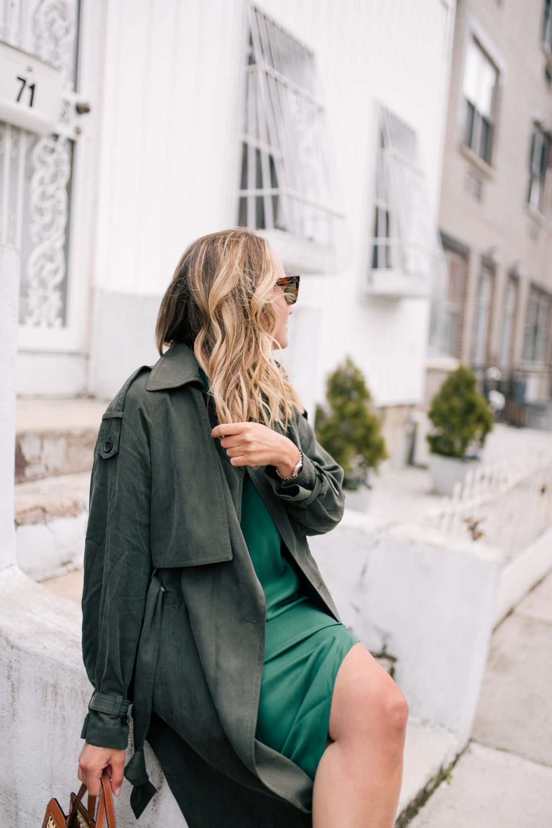 Green on Green Outfit by The Stripe