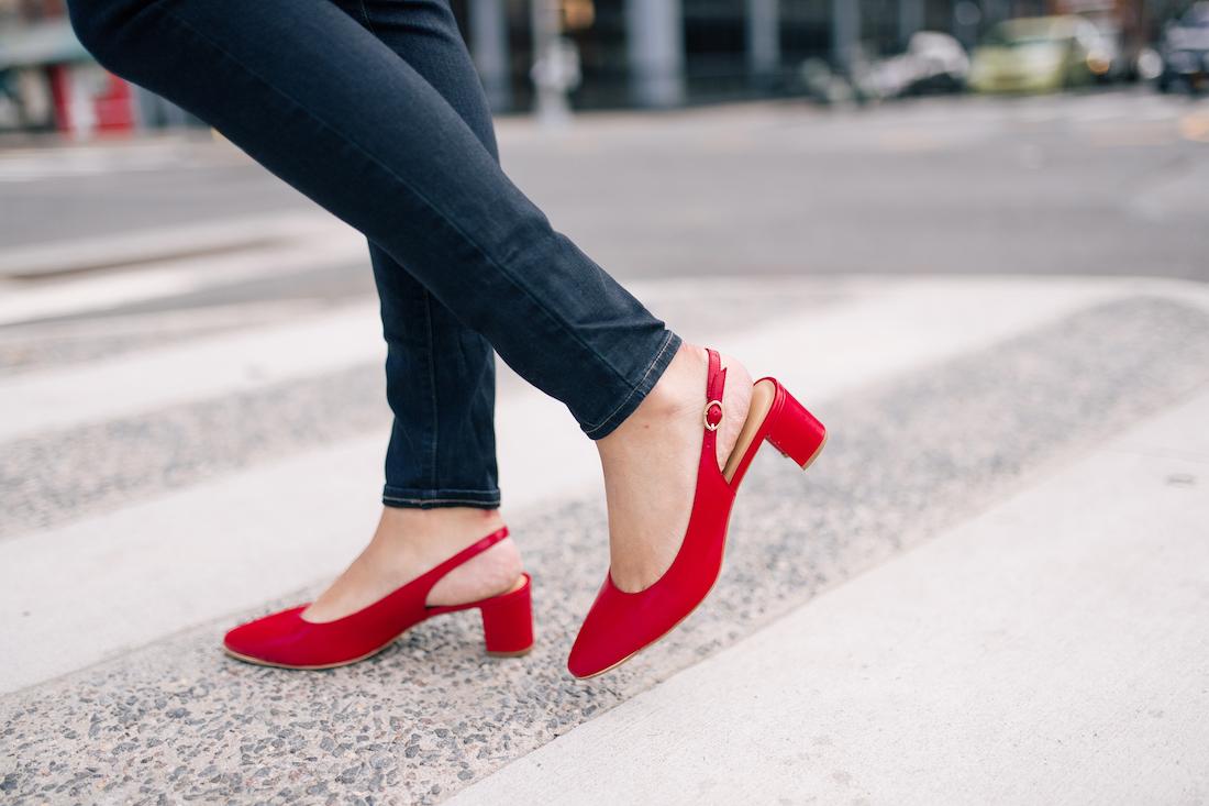 Red Talbots Heels