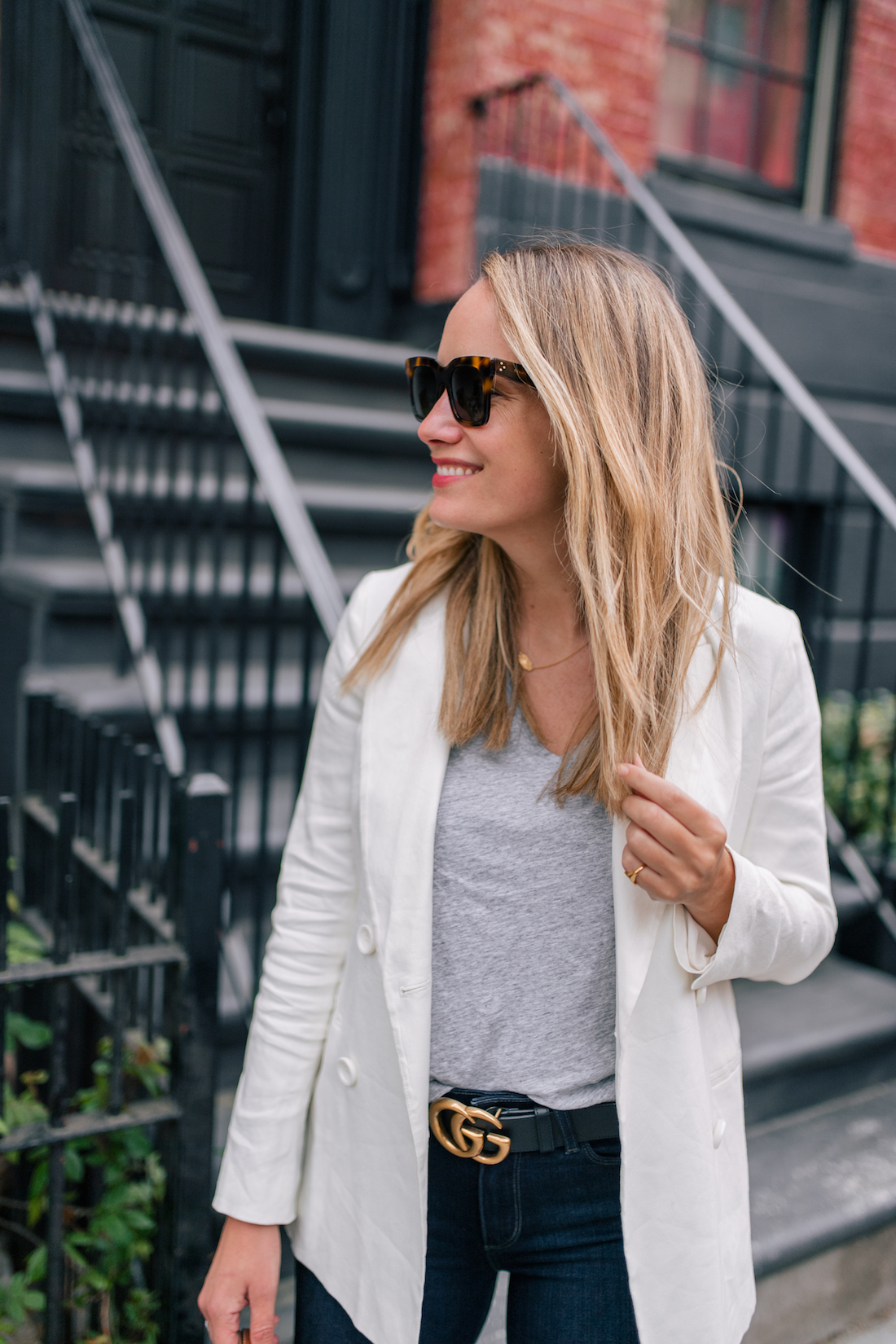 4bc6bd2b5c529 White Blazer For Spring & Inclusivity Challenge Month Two - The Stripe