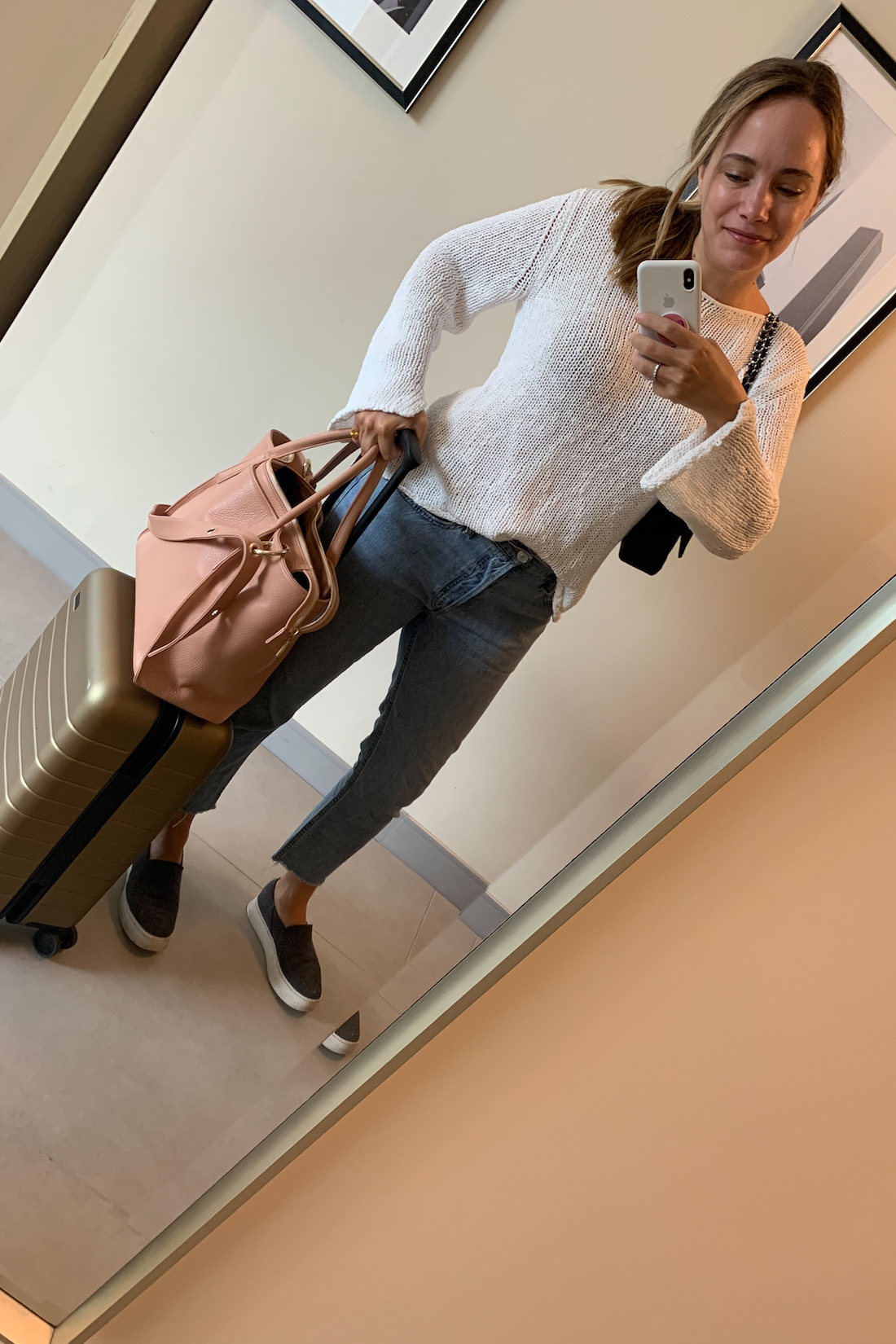 mm la fleur sweater and jeans
