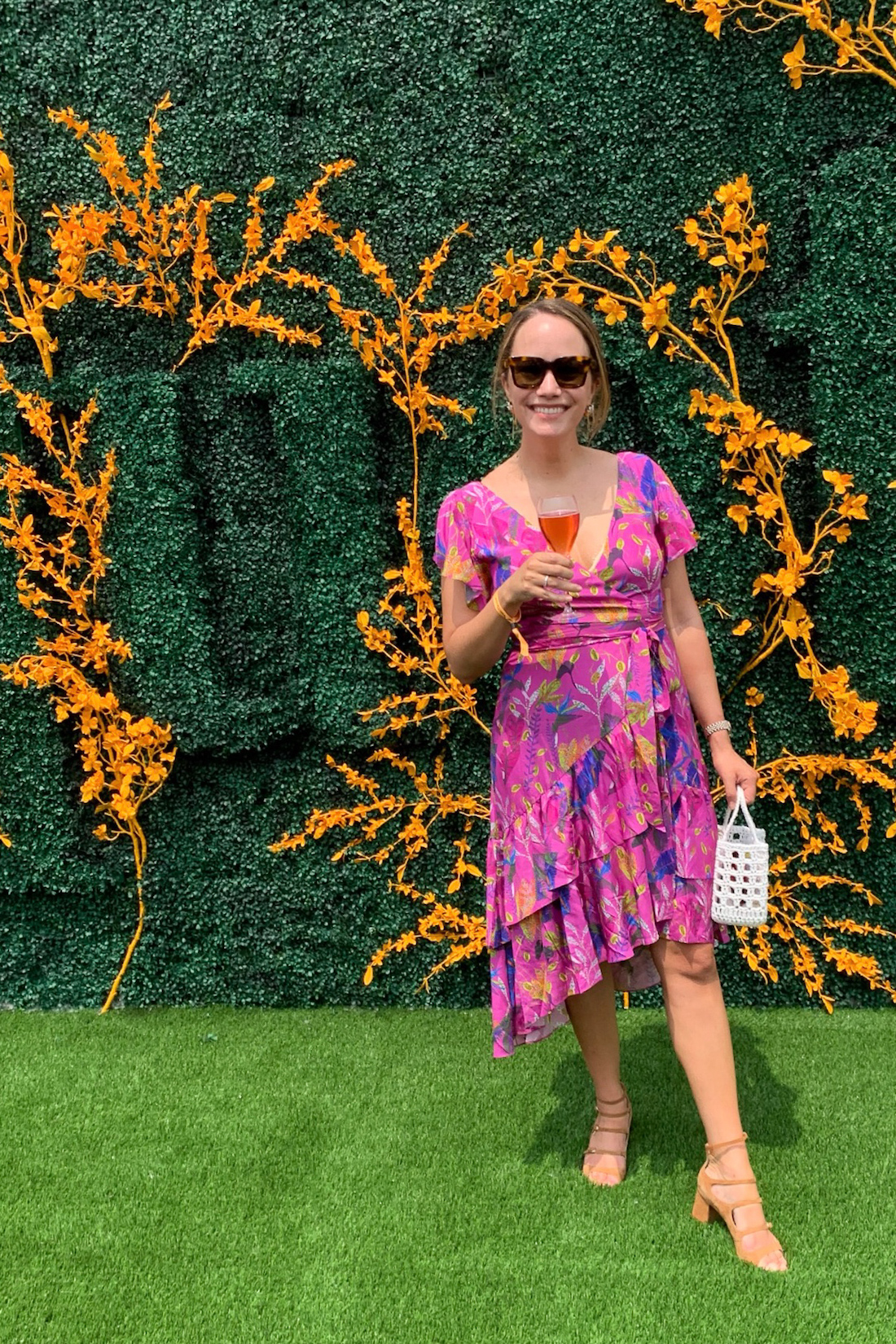 Grace Atwood is at Polo with Veuve Clicquot event