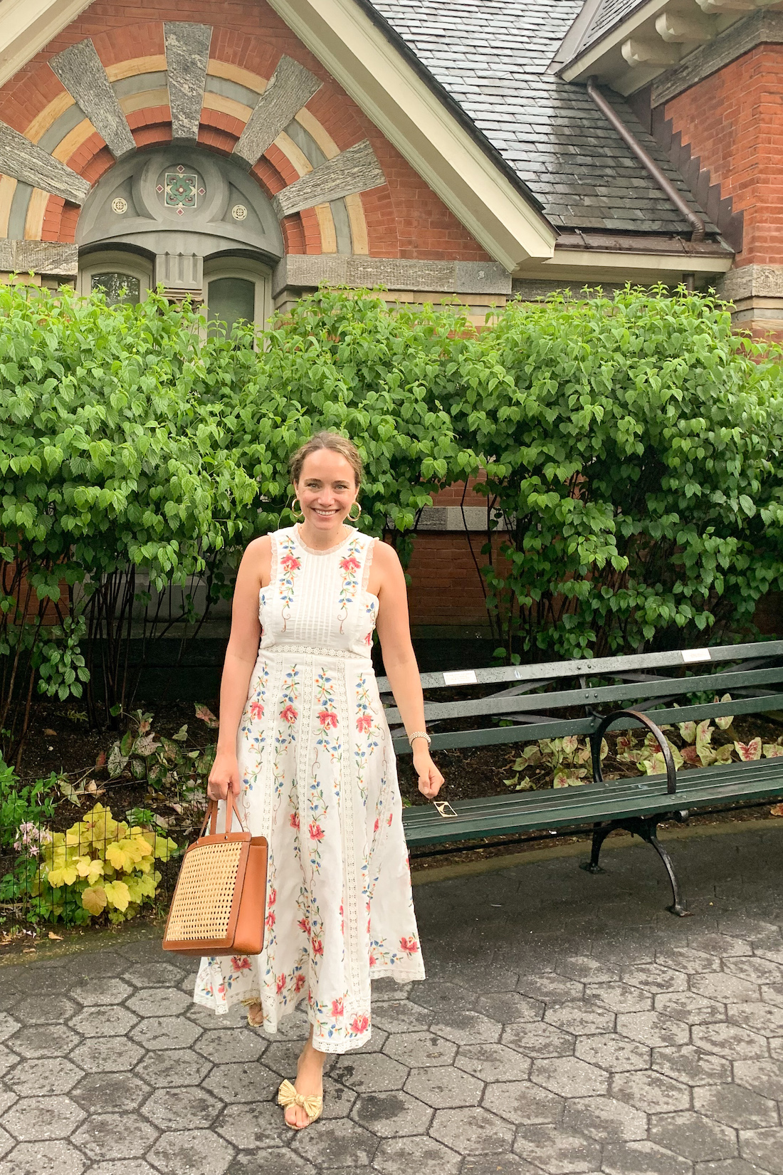 daily outfits - floral maxi dress
