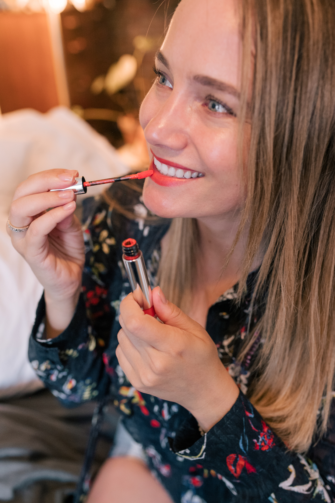 applying a Tom Ford beauty product