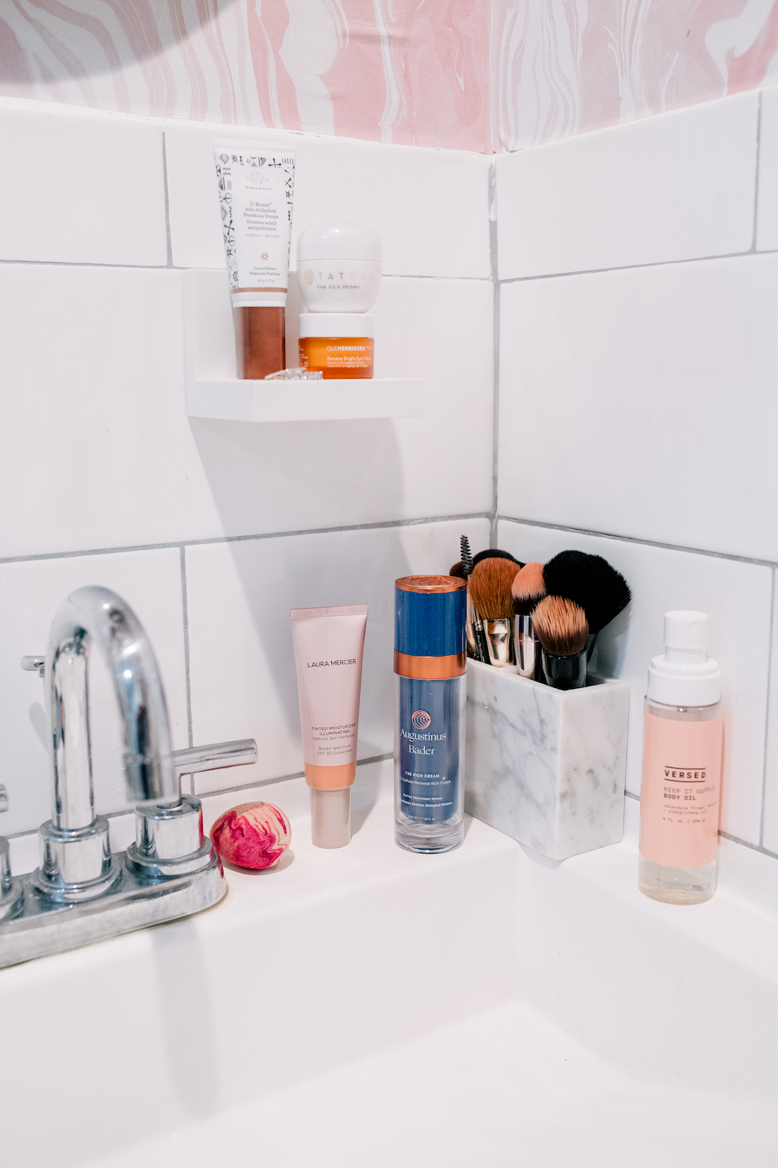 bathroom products and weekend reading