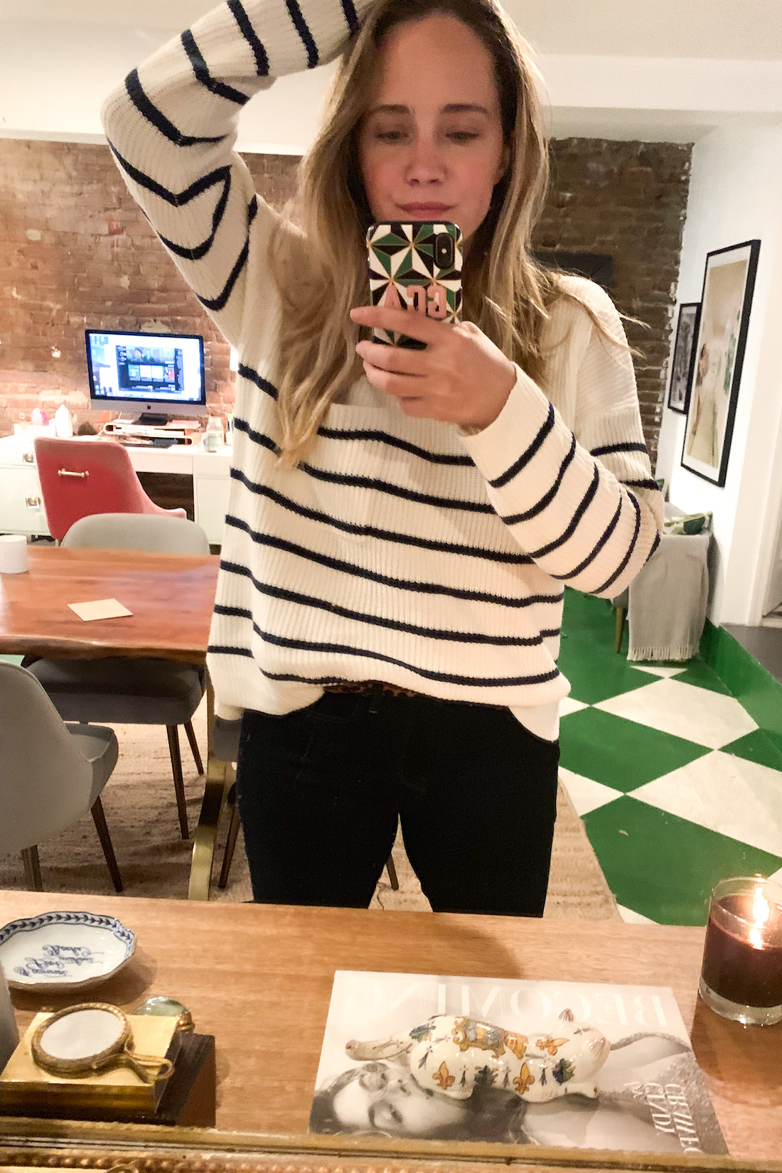 What I Actually Wore: 9.21 - 9.27. striped outfit