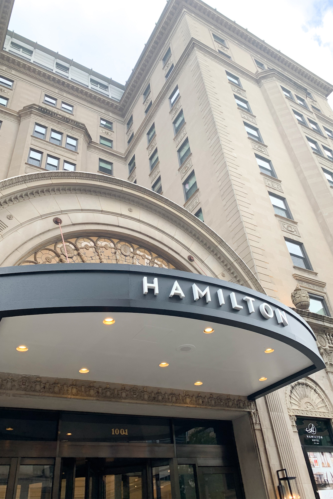 The Hamilton hotel-  Our Trip to DC