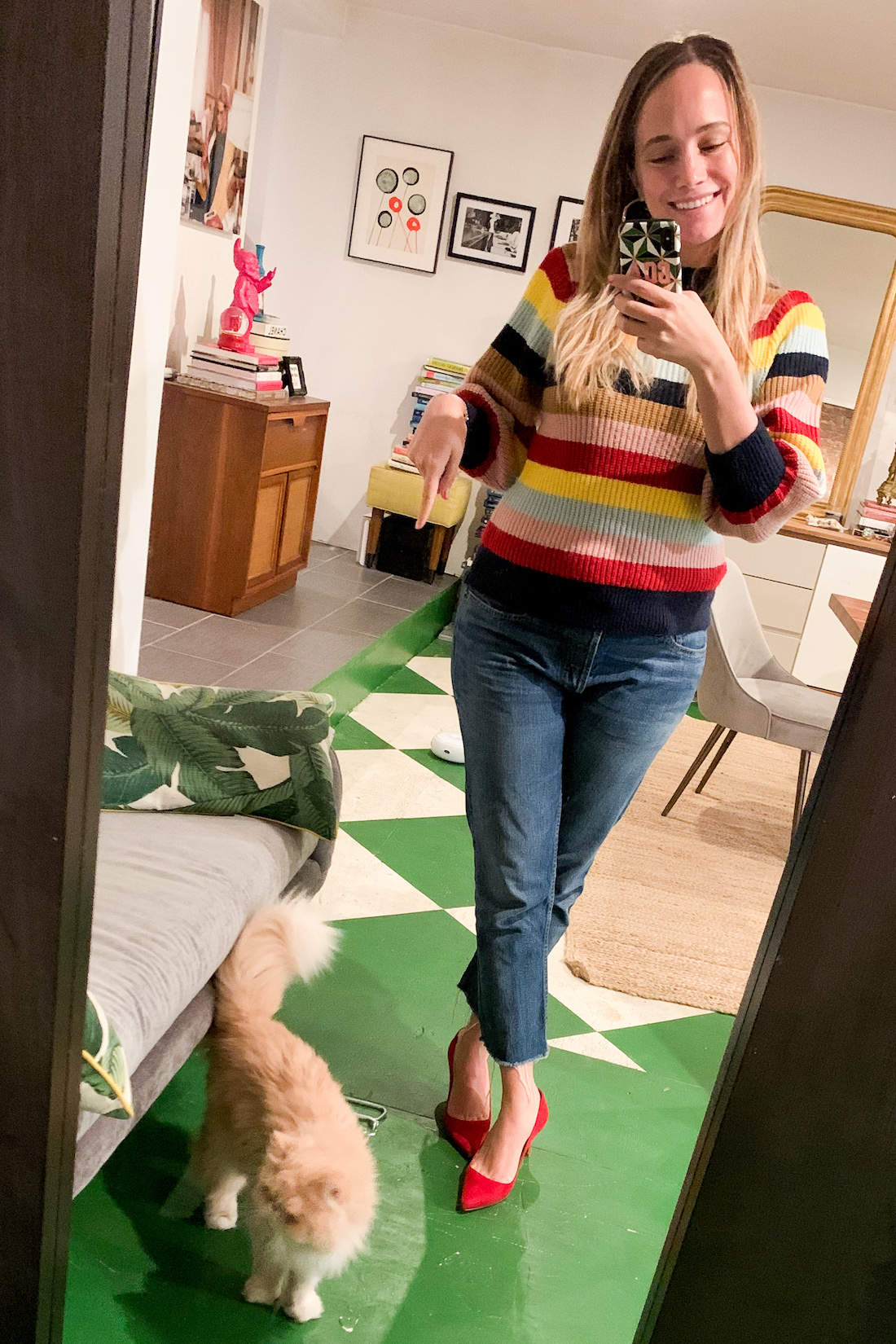colorful sweater - What I Actually Wore: 10.5 - 10.11.