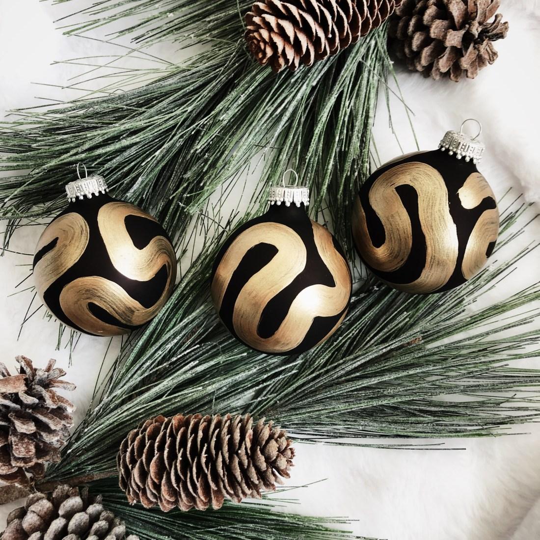 Meg Biram small hand painted christmas ornament