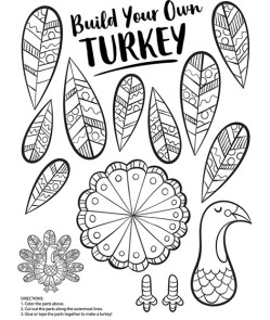 build your own turkey craft