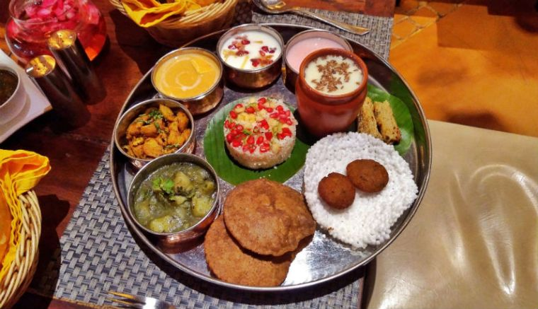 Navratri Thali at Sattvik Restaurant, Delhi