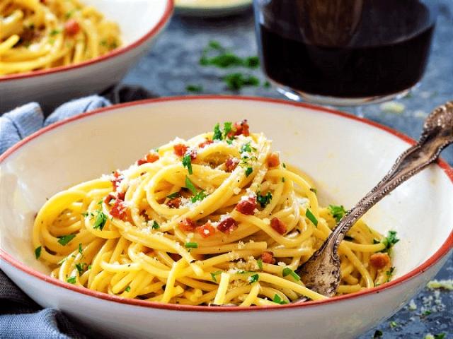 Piping Hot Spaghetti Carbonara