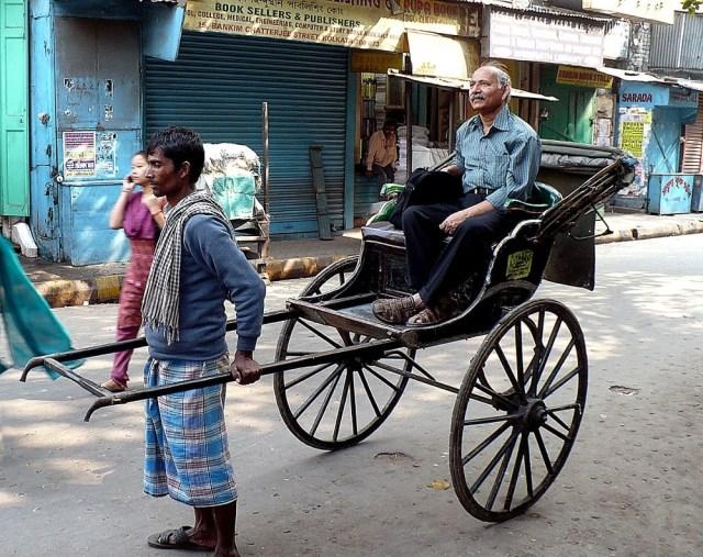 Hand Carts Or Human Pulled Rickshaws, Kolkata, India