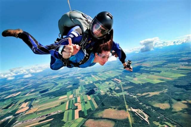 Skydiving in Algarve, Portugal