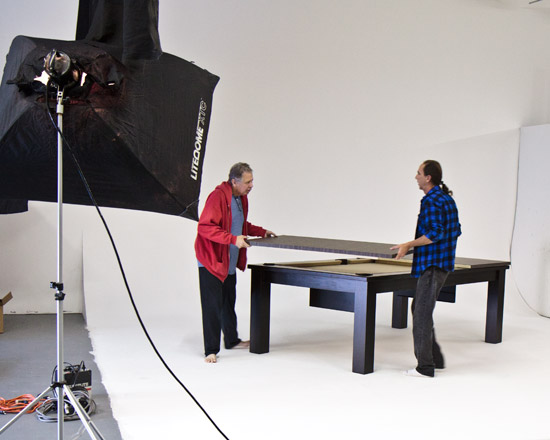 Loyd Parker design custom pool table that can be a dining table