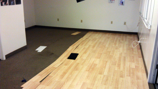 Rental Studio get new floor for photography and video