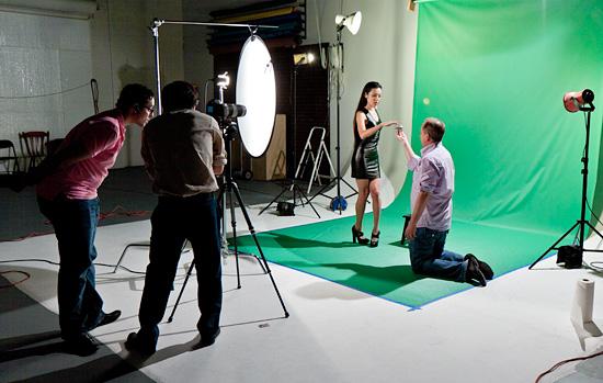 AV One shoots Video at Phoenix Studio for Rent on Green Screen