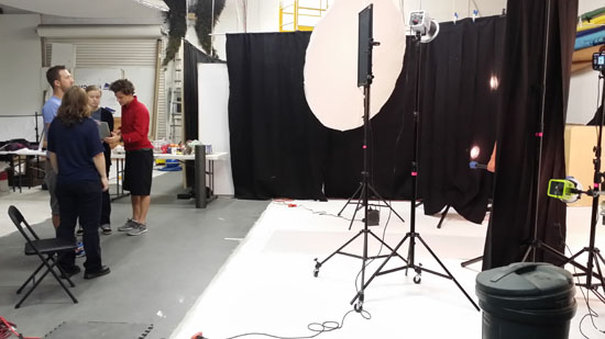 Rental Studio used for fitness book photography