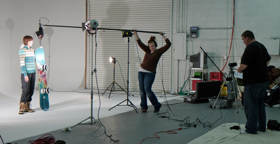 Behind the scenes of Snowboard Guardian Edge Protector Video Studio Rental