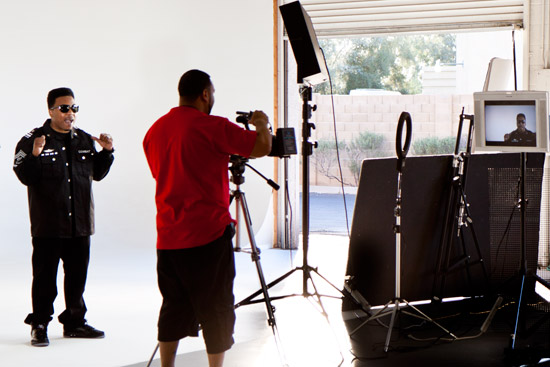 K. T  Cool on set making new music video at The Studio - your rental studio