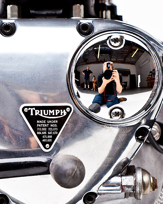 Triumph motorcycle photographed by Dean Farrell of Orcatek Photography Phoenix