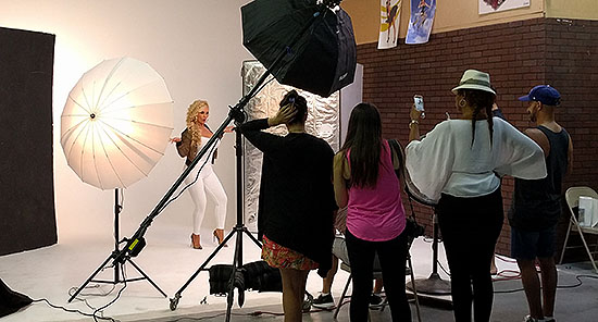 Coco Austin BTS photography shoot during rental in Tempe