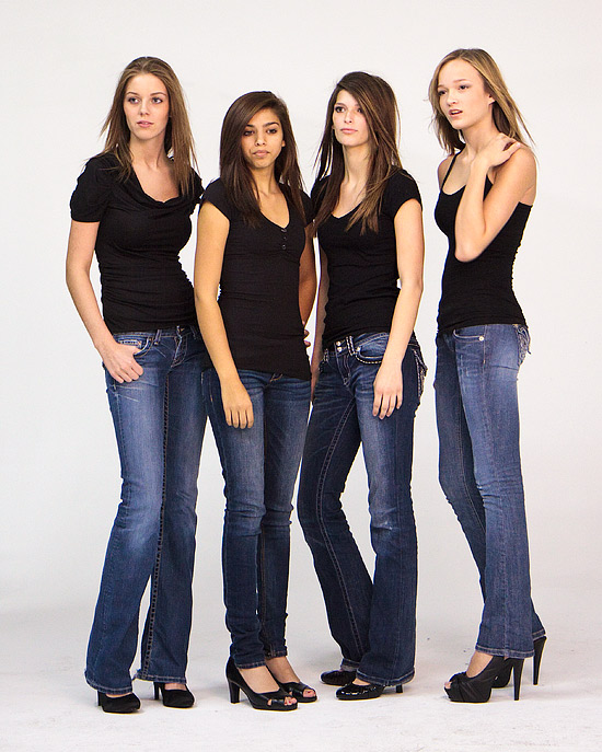 Older models from flash management during shoot when they rent the studio for photography