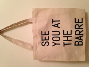 See you at the barre tote - front
