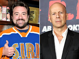 Kevin Smith and Bruce Willis