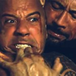VIN DIESEL AND THE ROCK FIGHT