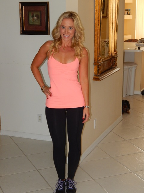 Dana and her favorite workout look!