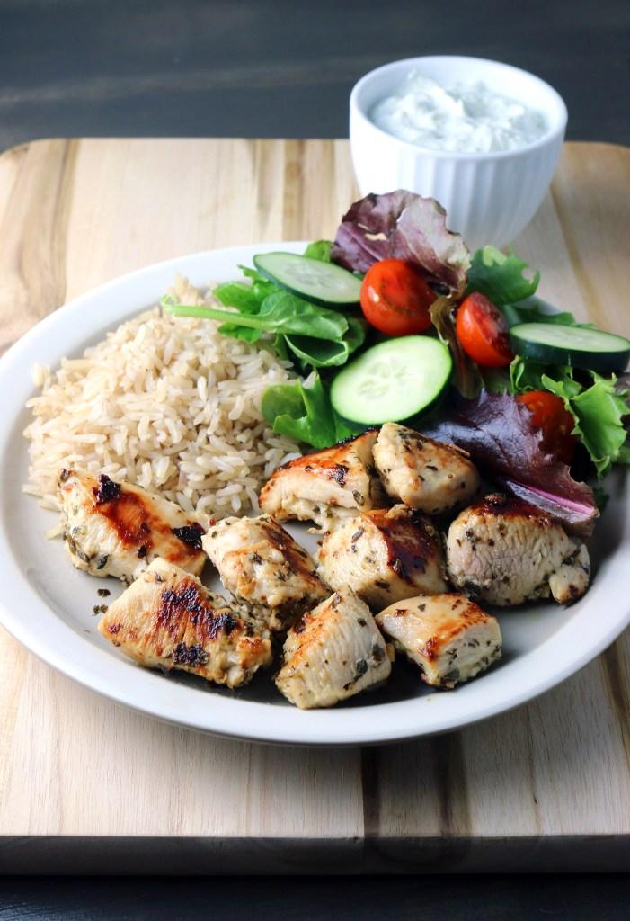 Greek Chicken with Tzatziki Sauce