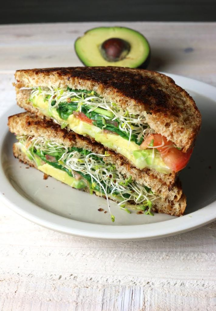 Green Vegetable Grilled Cheese - The Study of Yum
