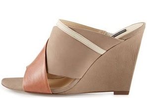 Mules: Steve by Steve Madden Cheri Open-Toe Leather Mule Wedge, $69.30, lastcall.com