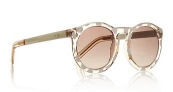 Le Specs Cheshire Polka Dot Round Frame Acetate Sunglasses, $65, net-a-porter.com