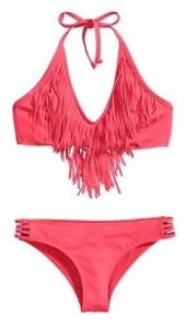 Fringe Bikini Top, $12.95 | Cut-Out Bikini Bottoms, $9.95, hm.com