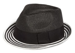 Tarnish Braided Stripe Fedora, $28, nordstrom.com