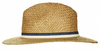Straw Double Band Fedora Hat, $40, topshop.com