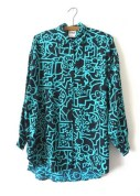 90s Keith Haring Style Abstract Button Down, $34, etsy.com