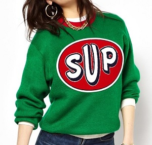 Joy Rich Sup Patched Sweatshirt, $77.39, asos.com